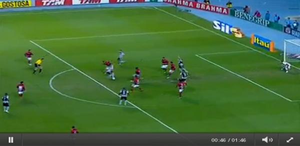 Gol do Herrera contra o Atletico-GO 07/07/2011